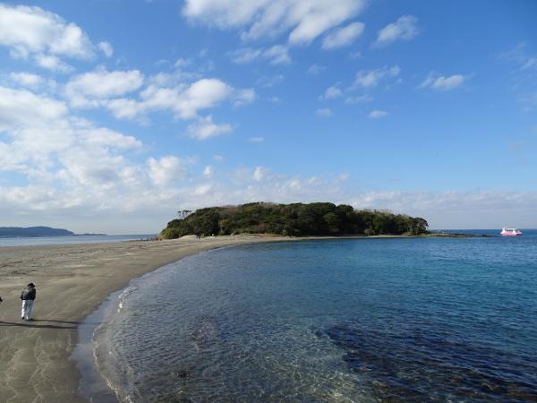 ペットと沖の島